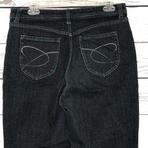 Chicos Platinum Jeans Quartz Black MidRise Bootcut